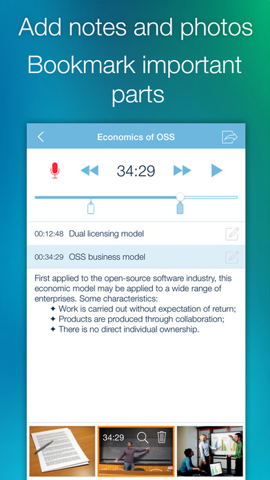 eXtra Voice Recorder: record, edit, take notes, and sync with Dropbox (Perfect for lectures or meetings) 앱스토어 스크린샷