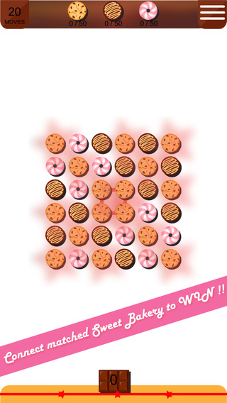 Aaron Sweet Cakes Blast Free - Link a line and Match the Sweet Cake and Cookie Bakery to win the puz