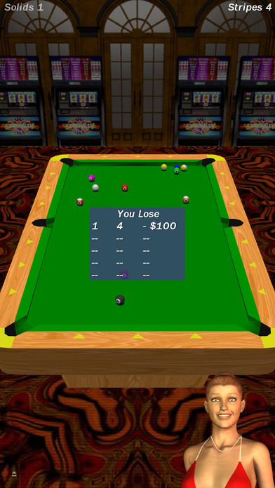 Screenshot 3 Vegas Pool Sharks HD Lite