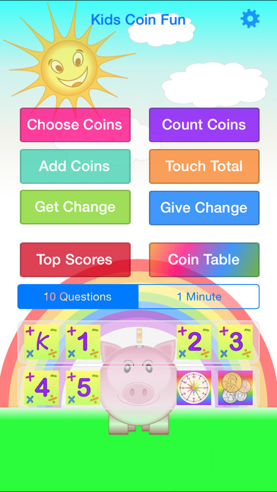Kids Coin Fun iPhone Screenshot 1