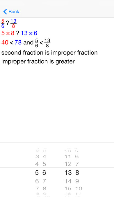 BasicFrac Fractions iPhone Screenshot 5