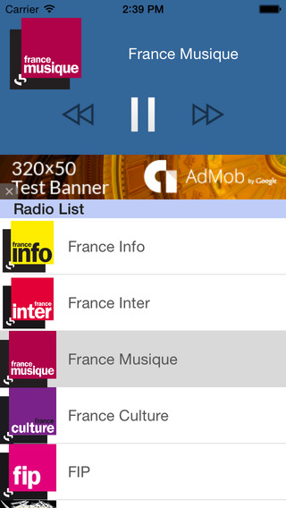 Radio France - Toutes les radios françaises FM sur Mobile 100 Gratuites