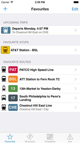 TransitTimes Philly - SEPTA trip planning offline schedules