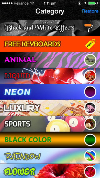 Zebra Color Keyboards HD