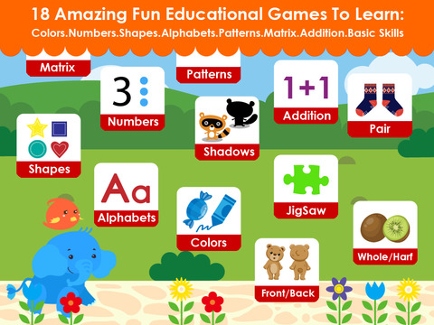Cute Math Elephant - Early Learning Games For Toddler and Preschooler - FREE