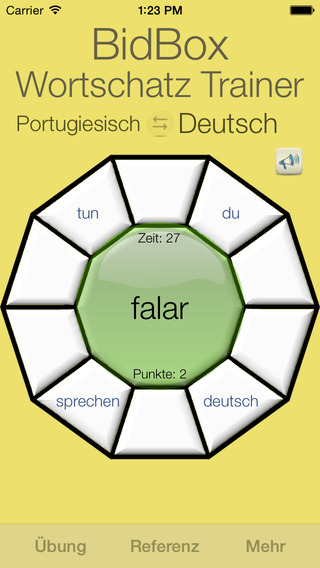 Vocabulary Trainer: German - Portuguese iPhone Screenshot 4
