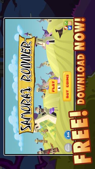 Samurai Runner Free - Mega Battle Super Fun Running Game