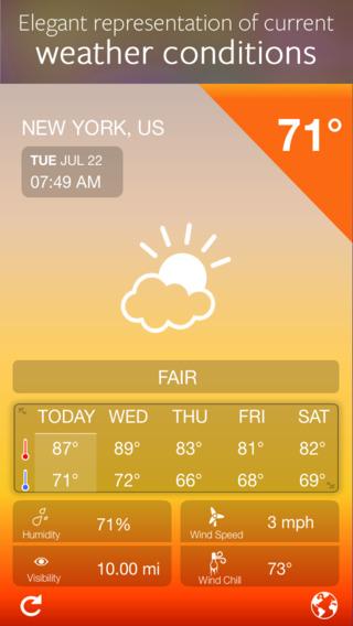 iWeather - USA and World Weather Forecasts
