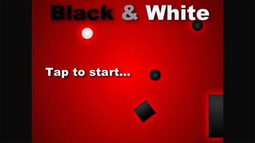 Black N White Game - impossible swype to move and avoid dark geometry
