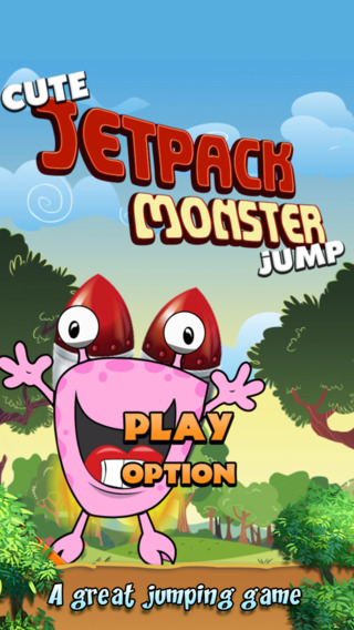 Cute Jetpack Monster Jump Free