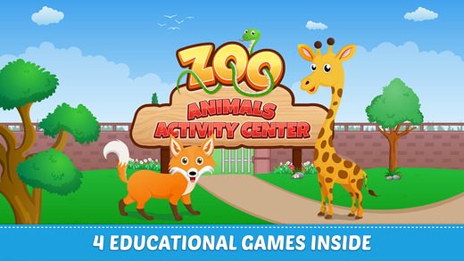 Zoo Animals Activity Center Free- Paint Play All In One Educational Learning Games for Toddlers and