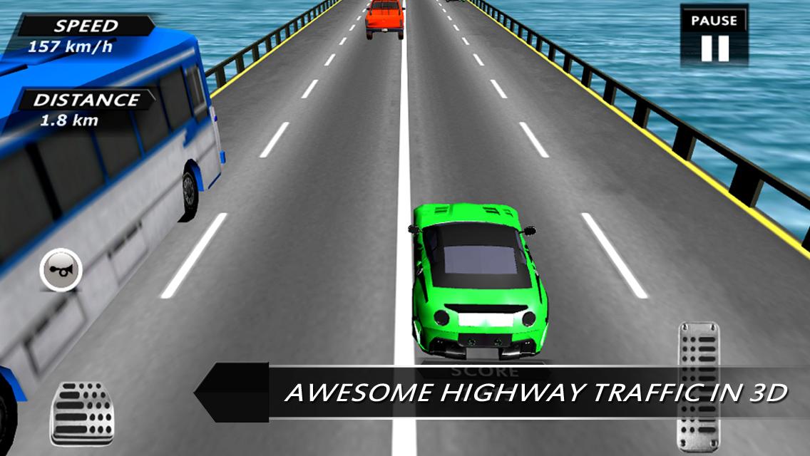 app shopper traffic race 3d highway games. Black Bedroom Furniture Sets. Home Design Ideas