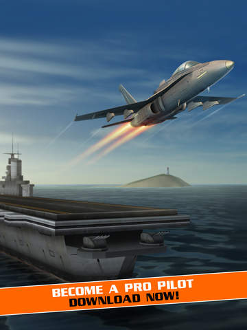 Screenshots of Flight Pilot Simulator 3D by Fun Games For Free for iPad