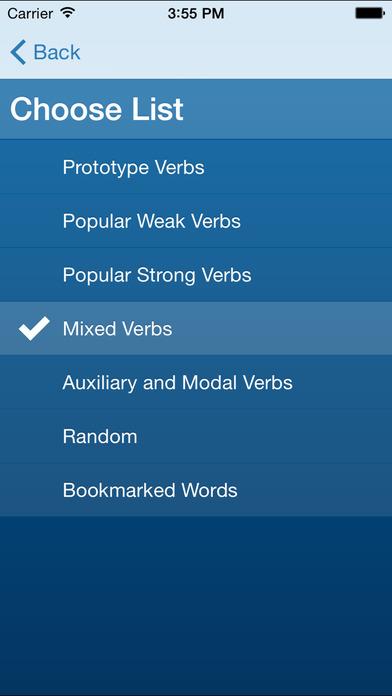 German Verb Conjugation Trainer by Wie Geht's German iPhone Screenshot 4