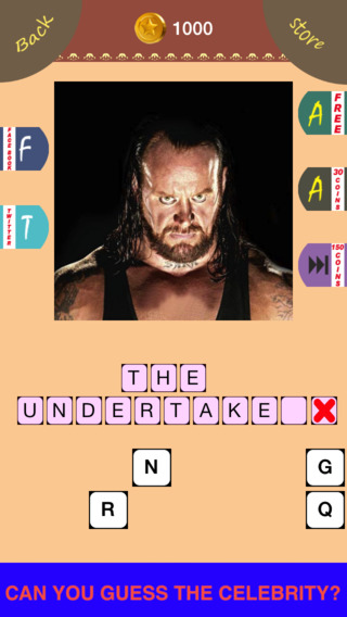 Wrestling Mania : Guess The Wrestler Celebrities Word Quiz Edition