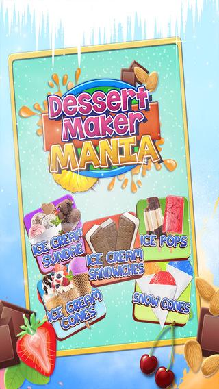 Dessert Maker Mania Ice-Cream Sandwiches Cones Sundaes Pops Snow-Cones