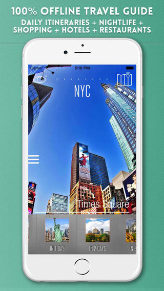 New York City Travel Guide with Offline Street and Metro Maps