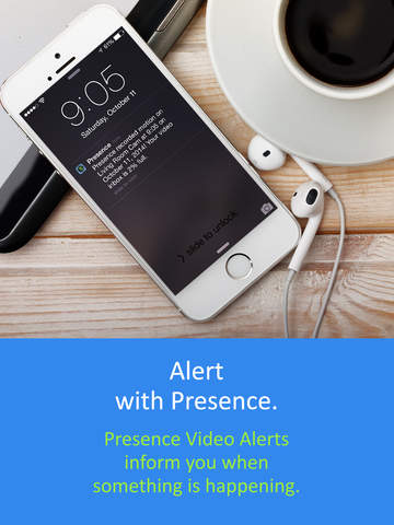 Screenshot 2 Presence: Free smart home motion detector webcam for security,  surveillance,  and energy