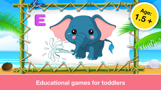 Alphabet Aquarium School Vol 1: Animated Bubble Puzzle Game with Letters and Animals for Preschool a