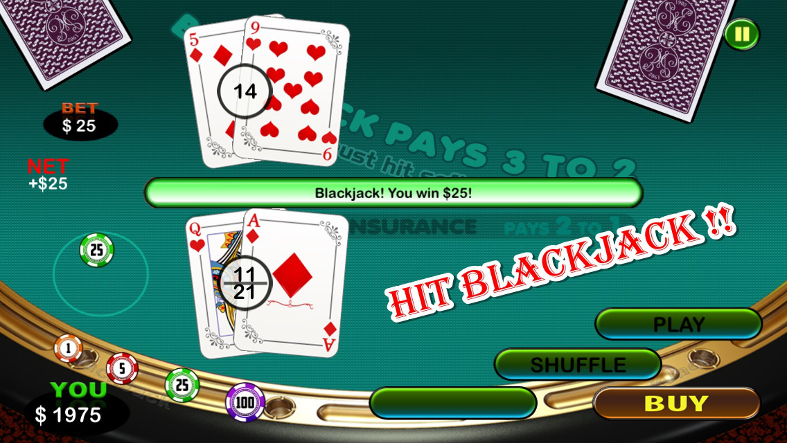 free bet blackjack las vegas