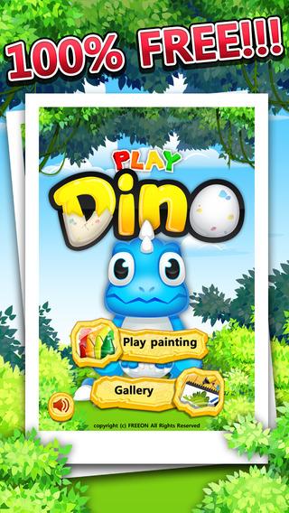 Play Dino Painting : Dinosaurs
