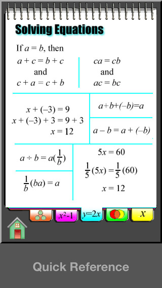 Algebra Concepts iPhone Screenshot 3