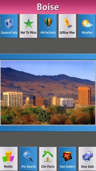 Boise Offline Map City Guide