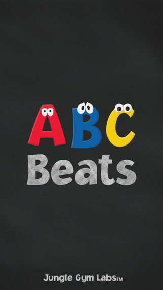 ABC Beats: Kids chalkboard stickers