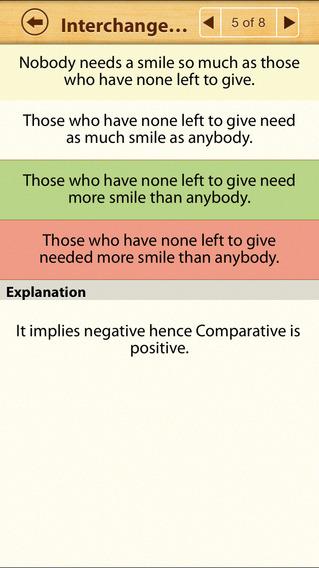 Grammar Express: Degrees iPhone Screenshot 4