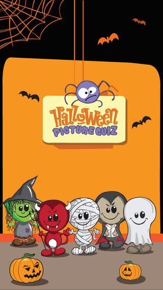 Halloween Picture Puzzle - 4 Pics One Word Cute Trivia Game