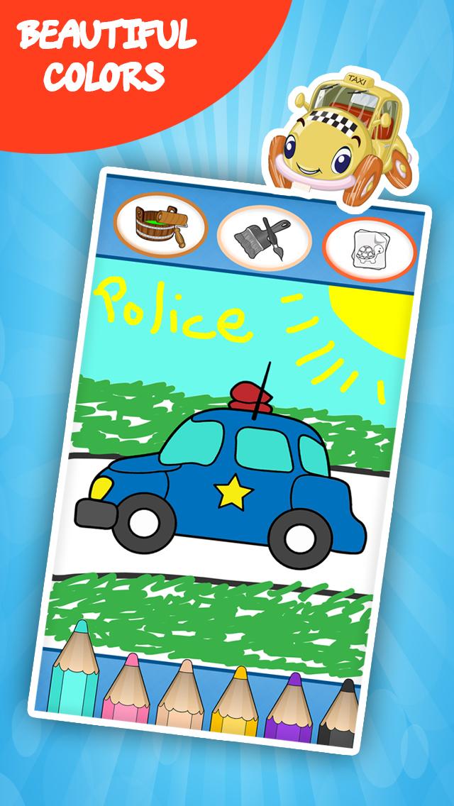 儿童幼儿汽车涂鸦素材