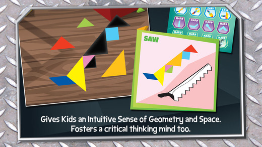 Kids Learning Puzzles: The Family Handyman - Tangram Building Blocks Make Your Brain Pop