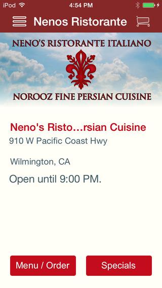 Neno's Ristorante Italiano Norooz Fine Persian Cuisine
