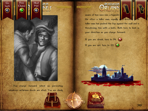 Gamebook Adventures 1: An Assassin in Orlandes iPad Screenshot 3