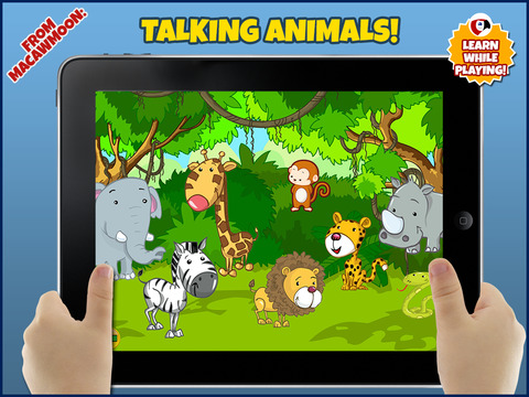 玩免費遊戲APP|下載TalKing Animals: Preschool and Kindergarten Learning Puzzle Games with sound and interaction for Toddler kids Explorers app不用錢|硬是要APP
