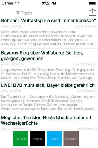 Fussball Deutschland Live - Bundesliga Spiele, Ergebnisse, Rangliste, Nachrichten, TV screenshot 2