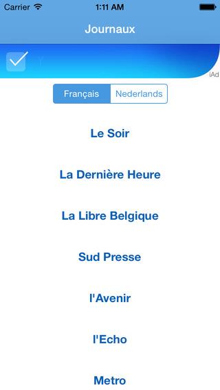 Journaux Belges