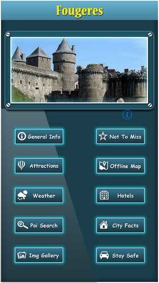 Fougeres Offline Map City Guide