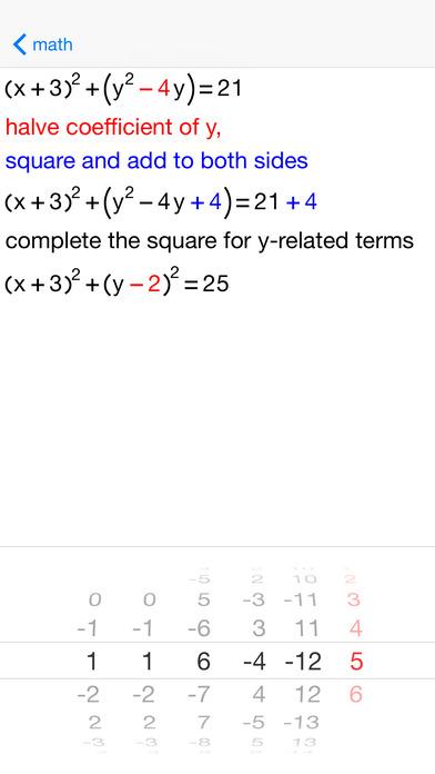 Circle Equations iPhone Screenshot 4