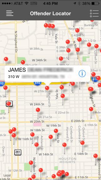 Offender Locator Lite iPhone Screenshot 2