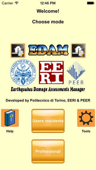 EDAM Earthquakes Damage Assessments Manager