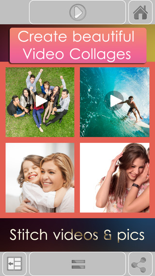 VidPic Video Collages Maker with multiple videos music for youtube instagram