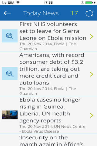 Ebola News Tracker screenshot 3