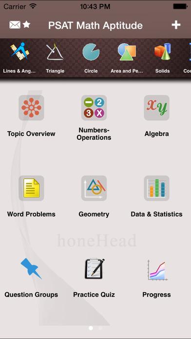 PSAT Math Aptitude iPhone Screenshot 1