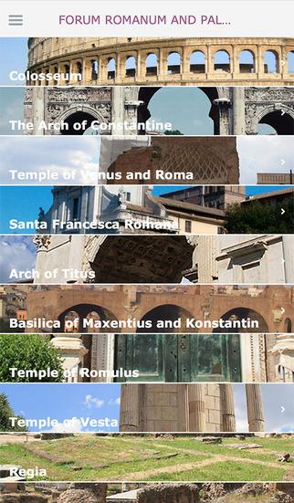 Forum roman and Palatine hill