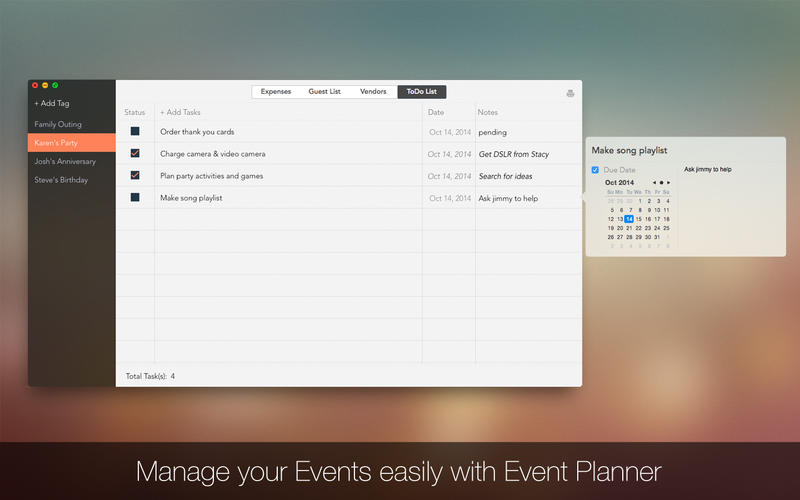 Event Planner Screenshot - 4