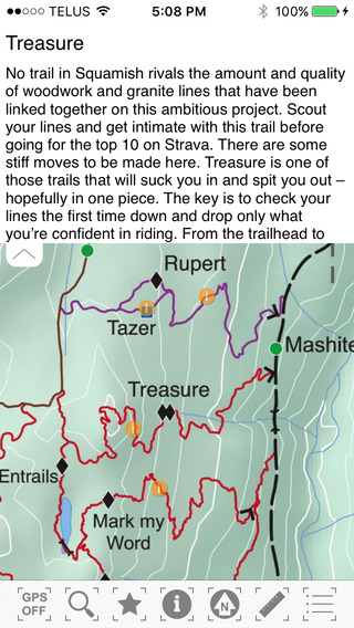 TrailMapps: Squamish iPhone Screenshot 4