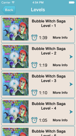 Guide for Bubble Witch Saga - All New Levels Video Walkthroughs Tips