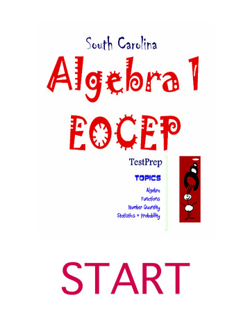 South Carolina Algebra 1 EOCEP TestPrep