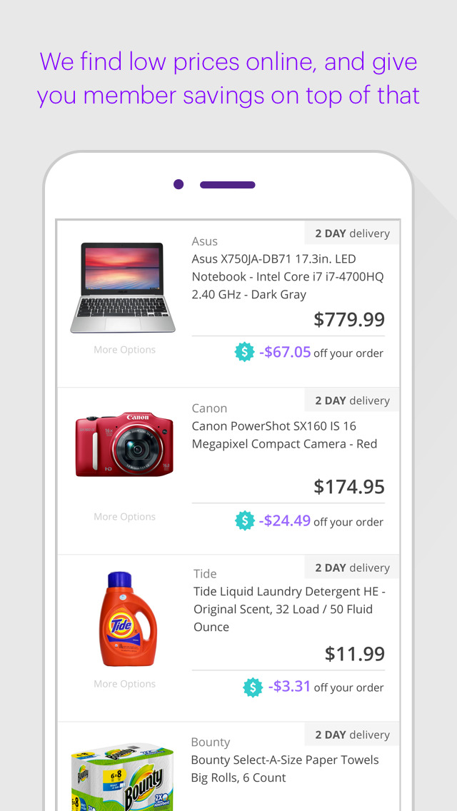 Lowest price offer in online shopping